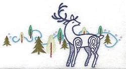 Reindeer Trees embroidery design