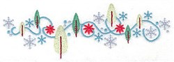 Snowflakes and Trees Border embroidery design