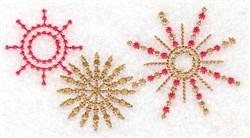 Star trio small embroidery design