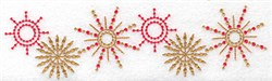 Star Snowflake Border embroidery design