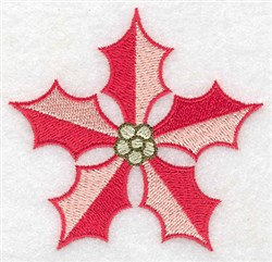 Poinsetta Blossom embroidery design