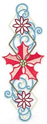 Poinsetta Border embroidery design