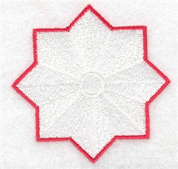 Star Flower embroidery design