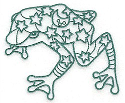 Frog With Stars embroidery design