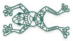 Stretched Out Frog embroidery design