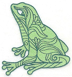 Decorative Sitting Frog embroidery design