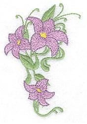 Lily Vine embroidery design