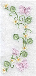 Butterflies and Blossoms Border embroidery design