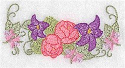 Lilies and Peonies embroidery design