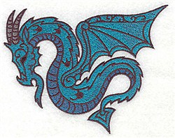Fantasy Dragon embroidery design