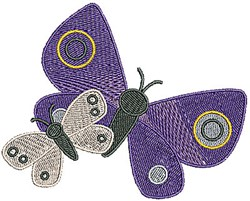 Bug Butterflies embroidery design