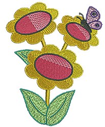 Butterfly Bunch Butterfly embroidery design