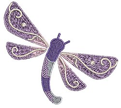 Bug Dragonfly embroidery design