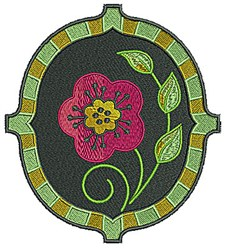 Flower Frame embroidery design
