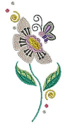 Bloom Butterfly embroidery design