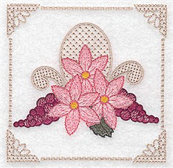 Grapes & Flowers embroidery design