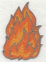 Fire Flames embroidery design
