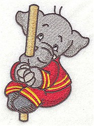 Elephant On Pole embroidery design