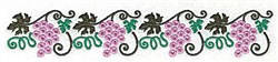 Grape border embroidery design