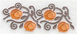 Apricots embroidery design