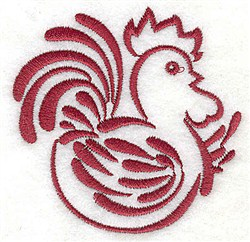 Rooster Cock embroidery design