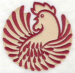 Rooster Applique embroidery design