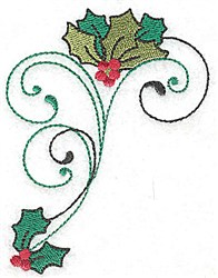 Hollys Berries & Swirls embroidery design