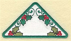 Holly Triangle Applique embroidery design