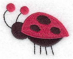 Red Ladybug embroidery design