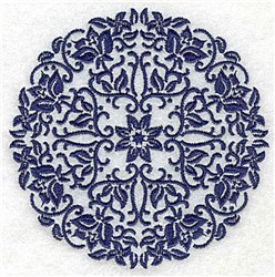 Flowers In A Circle embroidery design