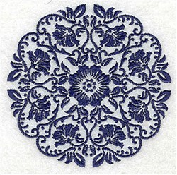 Flowers & Leaves embroidery design