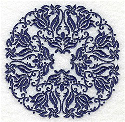 Damask Circle embroidery design