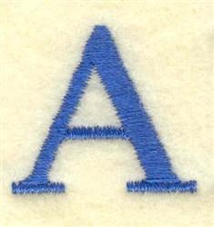 Alpha Small embroidery design