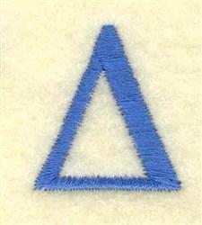 Delta Small embroidery design