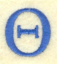 Theta Small embroidery design