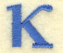 Kappa Lower Case Small embroidery design