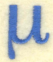 Mu Lower Case Small embroidery design