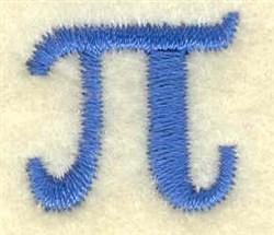 Pi Lower Case Small embroidery design
