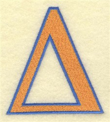 Delta Large embroidery design