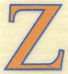 Zeta Large embroidery design