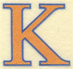 Kappa Large embroidery design