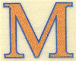 Mu Large embroidery design