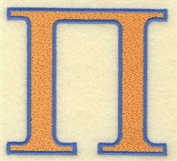 Pi Large embroidery design