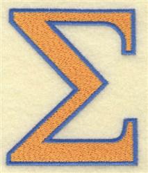 Sigma Large embroidery design