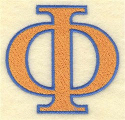 Phi Large embroidery design
