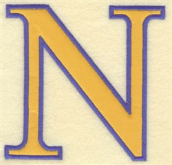 Nu Small Applique embroidery design