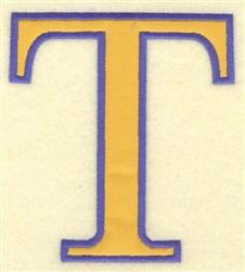Tau Small Applique embroidery design