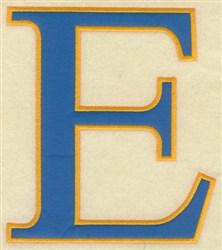 Epsilon Large Applique embroidery design