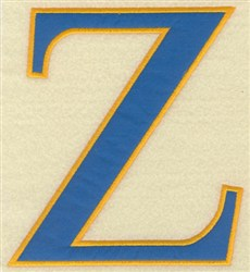 Zeta Large Applique embroidery design