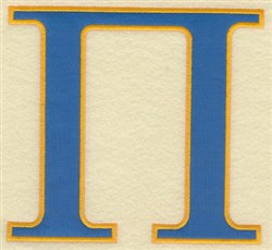 Pi Large Applique embroidery design